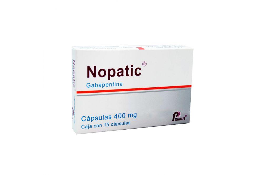 Nopatic 400 mg Caja Con 15 Cápsulas