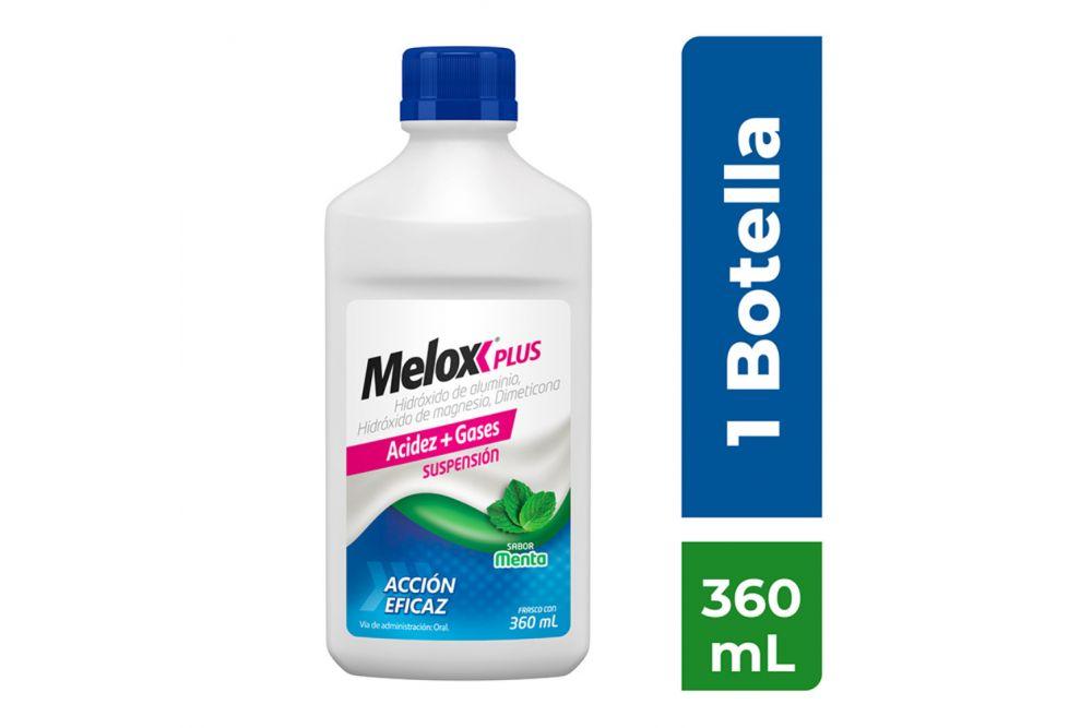 Melox Plus Suspensión Sabor Menta Frasco Con 360 mL