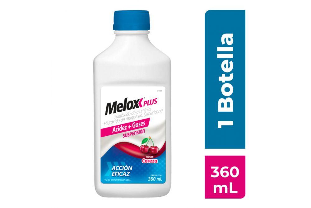 Melox Plus Suspensión Sabor Cereza Frasco Con 360 mL