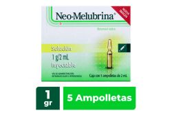 Neo Melubrina 1 g/2 mL Solución Inyectable Caja Con 5 Ampolletas
