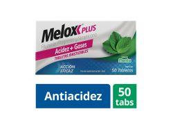 Melox Plus Caja Con 50 Tabletas Masticables Sabor Menta