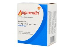 Augmentin 125 mg / 31.25 mg / 5 mL Frasco Con Polvo Para 60 mL - RX2