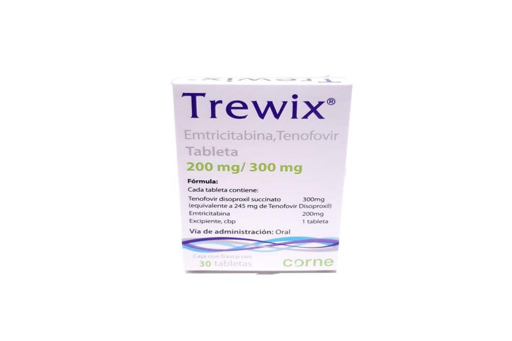 Trewix 200 mg/300 mg Caja Con Frasco Con 30 Tabletas