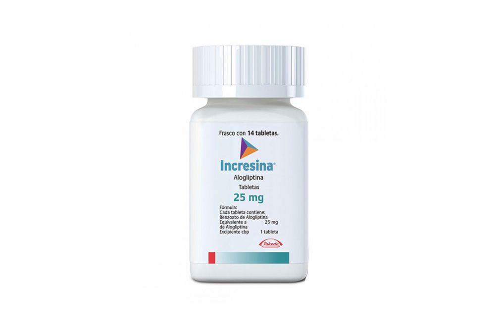 Incresina 25 mg Frasco Con 14 Tabletas