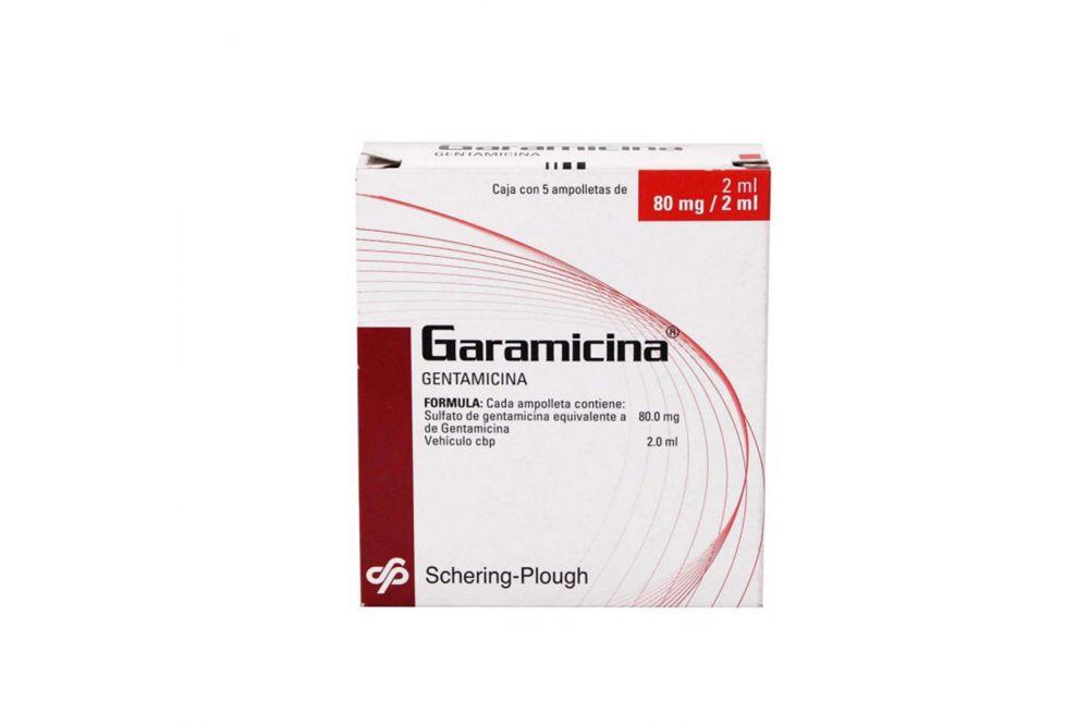 Garamicina 80mg Caja Con 5 Ampolletas De 2 mL -RX2