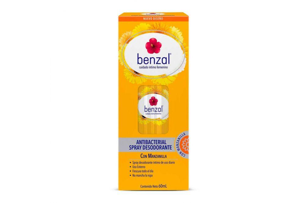 Benzal Manzanilla Desodorante Frasco Spray Con 60 mL