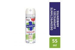 Desinfectante En Aerosol Family Guard Frescura Campestre Frasco Con 55 mL