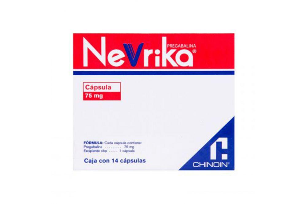 Nevrika 75 mg Caja Con 14 Tabletas