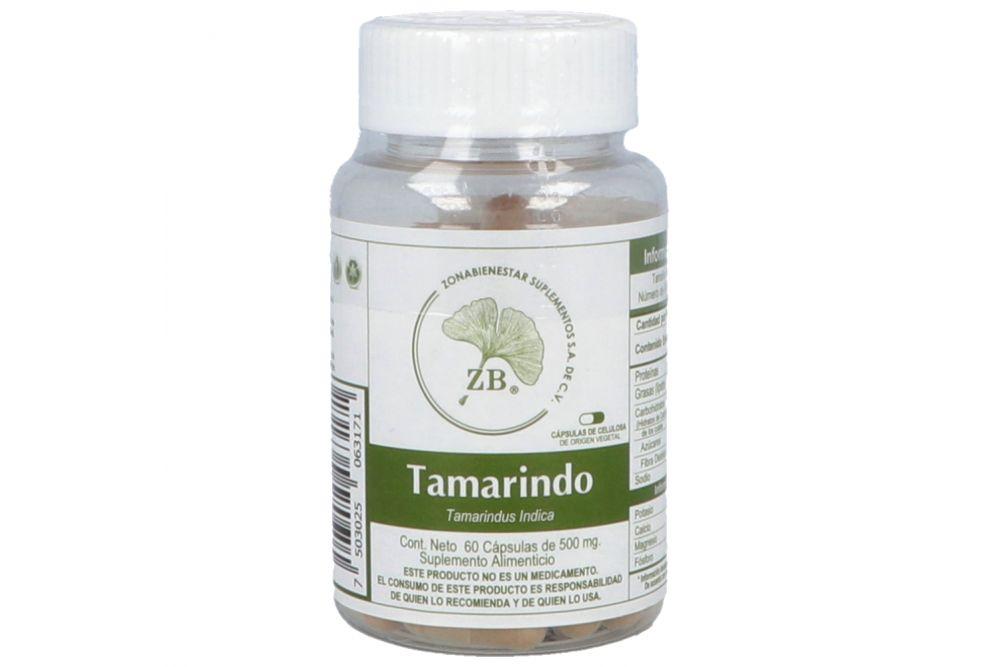 Tamarindo Bote Con 60 Cápsulas De 500 mg