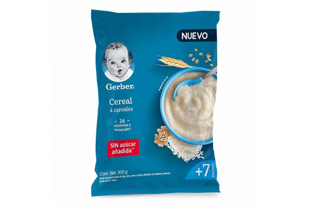 Gerber 4 Cereales 2Da Etapa Bolsa Con 300 g