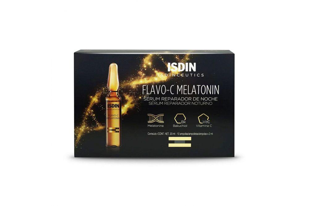 Isdinceutics Flavo-C Serum Raparador De Noche Caja Con 10 Ampolletas De 2 mL