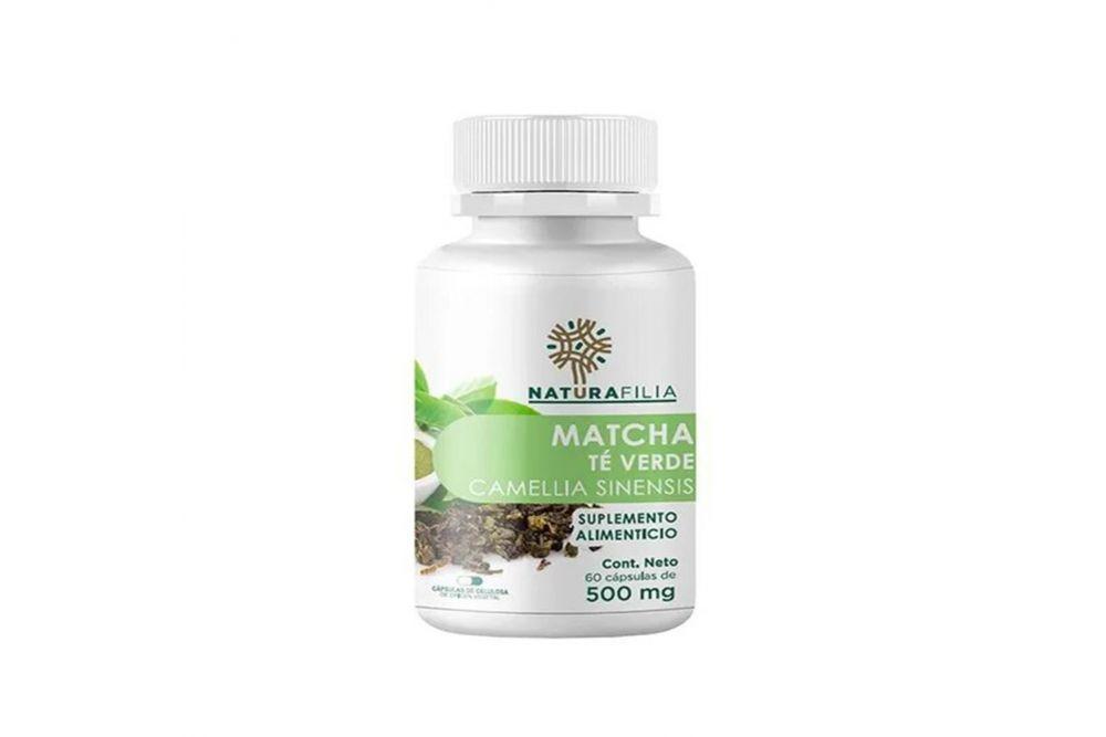Matcha (Te Verde) Bote Con 60 Cápsulas De 500 mg