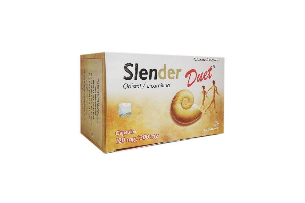 Slender Duet 120 mg /200 mg Caja Con 90 Cápsulas