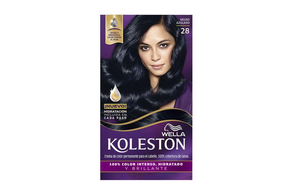 Koleston Tinte para Cabello en Crema No 28, Negro Azulado