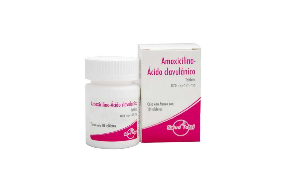 Amoxicilina / Ácido Clavulánico 850 mg / 125 mg Caja Con 10 Tabletas - RX2