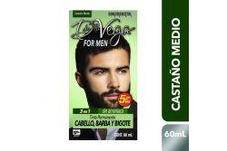 Tinte En Crema De la Vega Para Hombre Castaño Medio Caja Con 5 Piezas