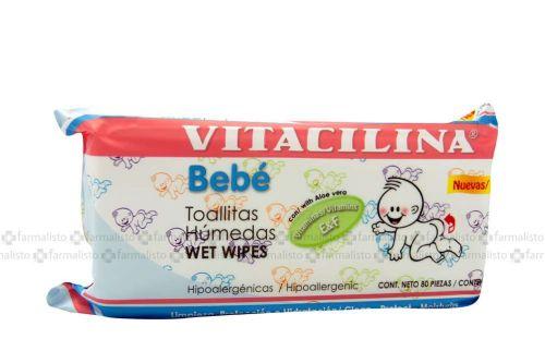 VITACILINA BEBÉ Paquete Con 80 Toallas Húmedas