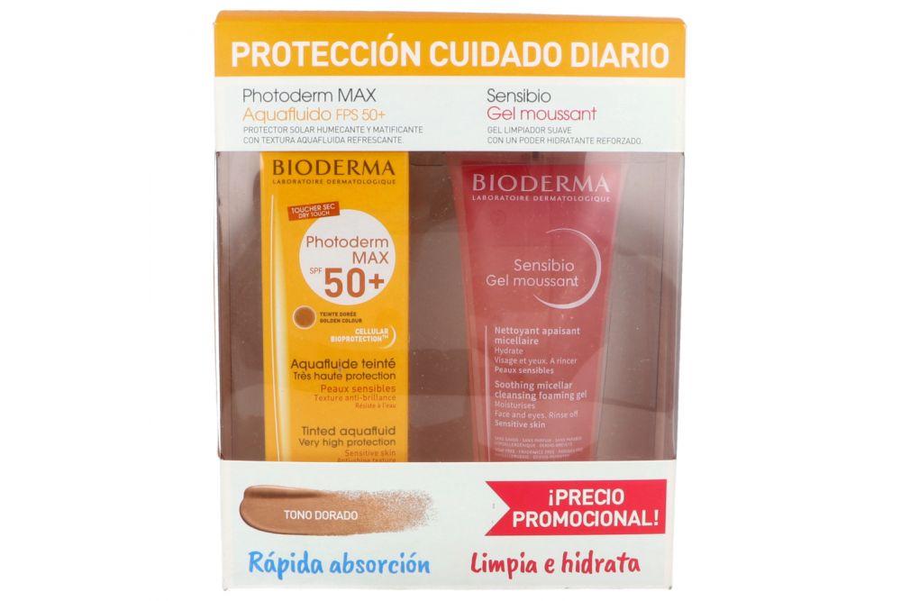 Kit Photoderm MAX Aquafluido Dorado 40 mL + Gel Sensibio 100 mL