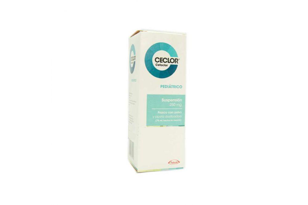 Ceclor Pediátrico 250 mg Caja Con Frasco Con Polvo Para 75 mL -RX2