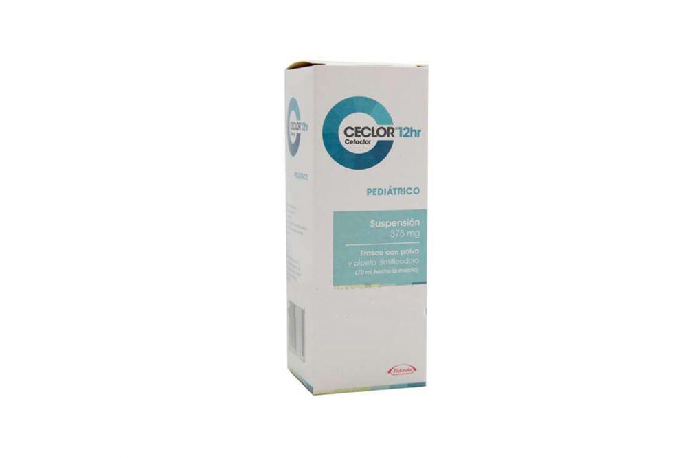 Ceclor 12Hr Pediátrico Suspensión 375 mg Frasco Con Polvo Para 70 mL -RX2