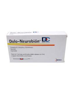 Dolo Neurobion DC Caja Con 3 Jeringas Prellenadas Doble Cámara Con 3 ml