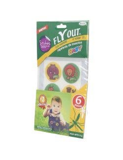 Fly Out Baby Stickers Repelentes De Insectos 6 Piezas