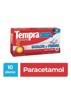 Tempra 500 mg Caja Con 10 Tabletas