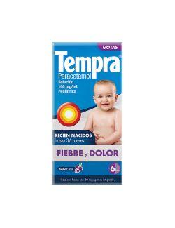 Tempra Gotas Pediátrico 100 mg / mL Caja Con Frasco Con 30 mL
