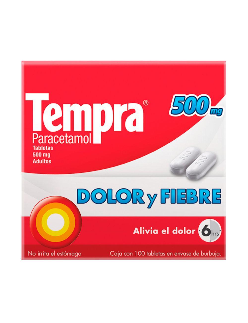 Tempra 500 mg Caja Con 100 Tabletas
