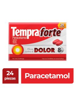 Tempra Forte 650 mg Caja Con 24 Tabletas