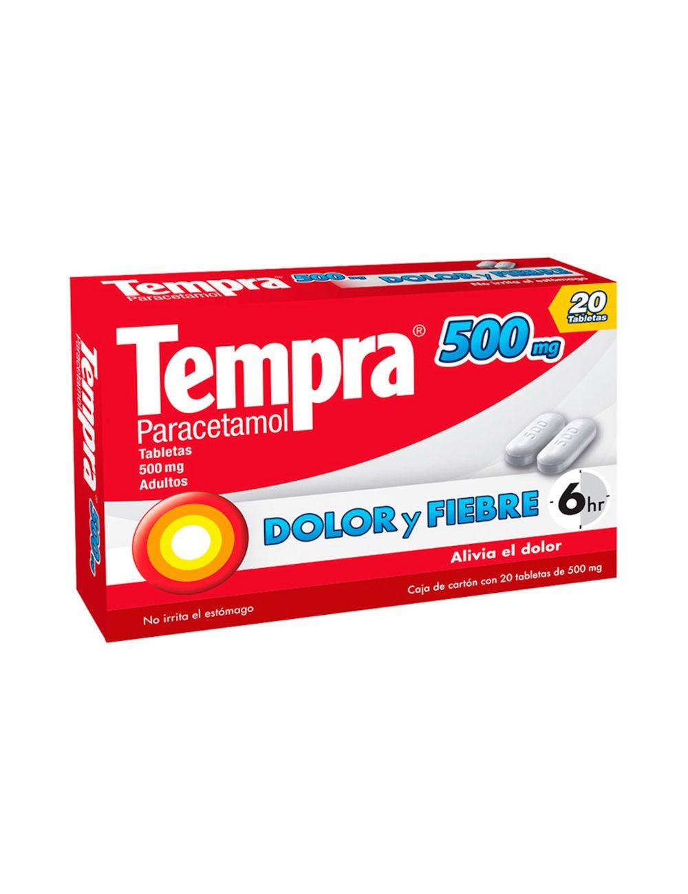 Tempra 500 mg Caja Con 20 Tabletas