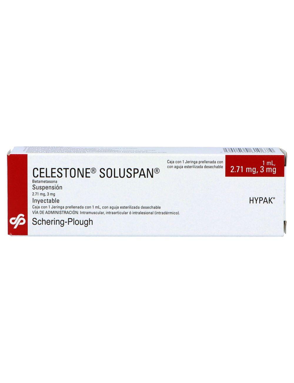 Celestone Soluspan Supensión Inyectable Caja Con 1 Jeringa Prellenada Con 1 mL