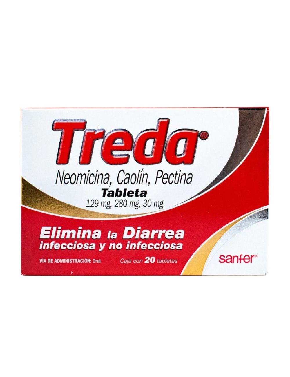 Treda 129 mg / 280 mg / 30 mg Caja Con 20 Tabletas