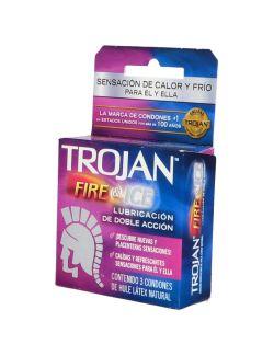 Trojan Fire & Ice Caja Con 3 Condones