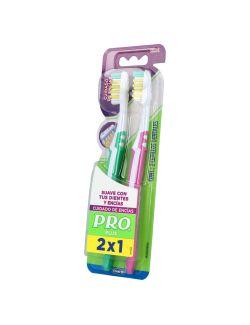 PRO Plus Cepillo Dental Cuidado Encias (2 piezas)