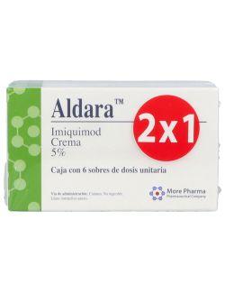 Aldara Crema 5 % Empaque Con 2 Cajas Con 6 Sobres 250 mg 2x1