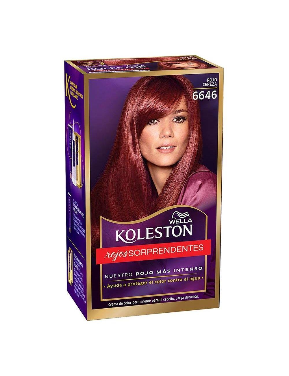 Tinte Koleston Rojo Cereza 6646 Caja Con Tinte