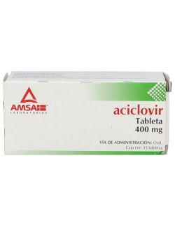Aciclovir 400 mg Caja Con 35 Tabletas