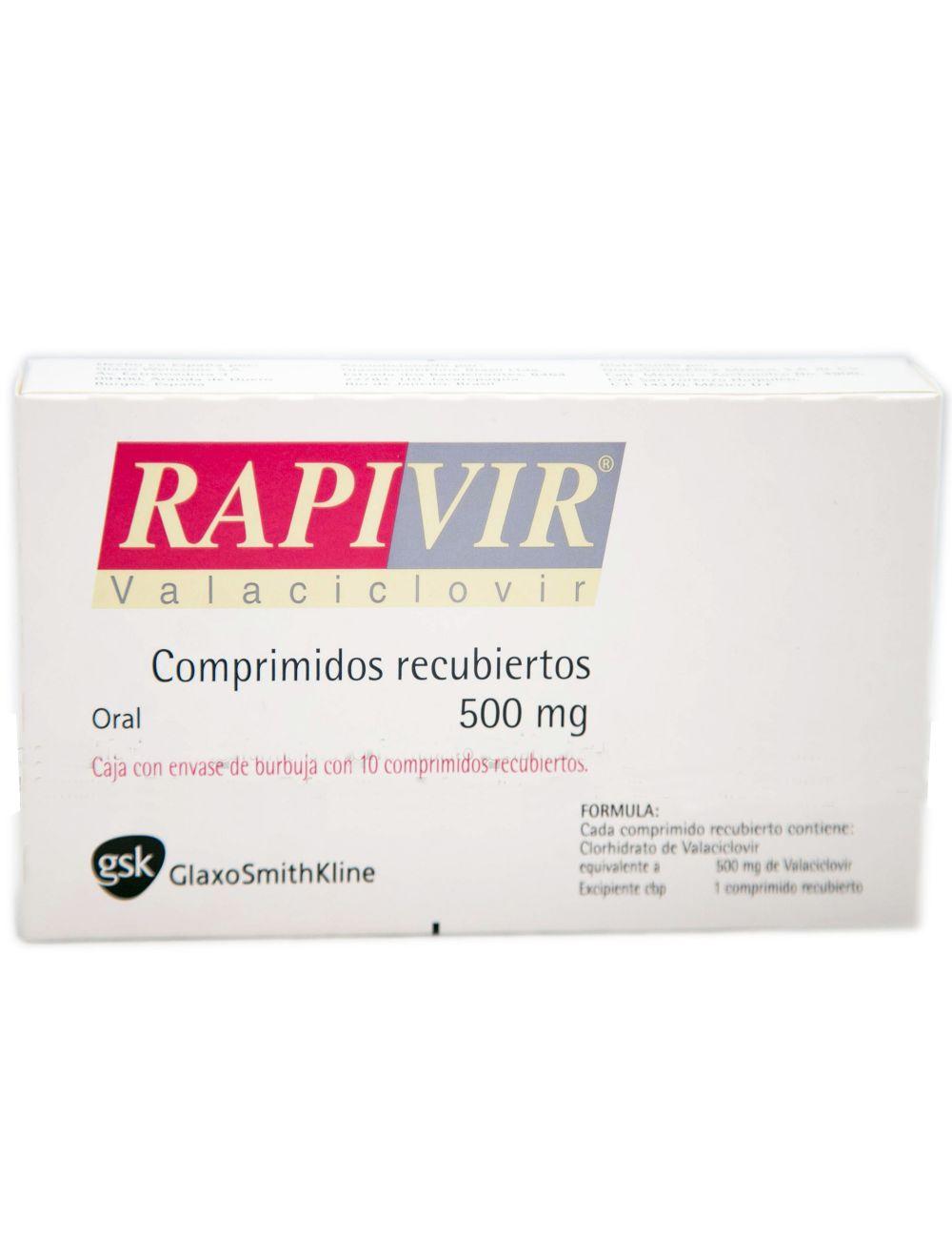 No Rapivir 500 mg Caja Con 10 Comprimidos Recubiertos