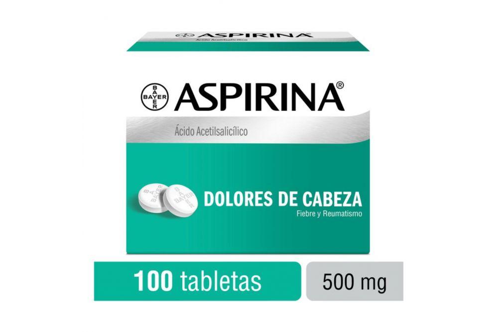 Aspirina 500 mg 100 Tabletas